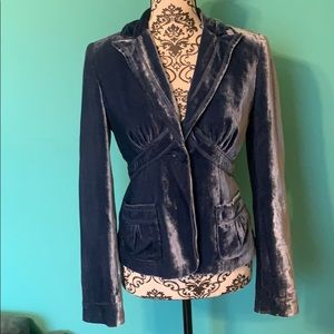 Laundry by Shelli Segal Fashion Blazer 1 Btn Blue